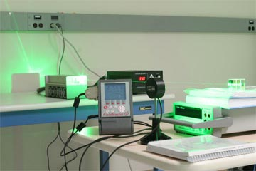 Laser power testing setup for 5 Watt system