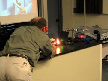 Photos of Weber State University laser lecture (April 2007)